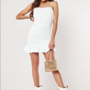 Cami Tie Ruffle Hem Aline Dress (New)